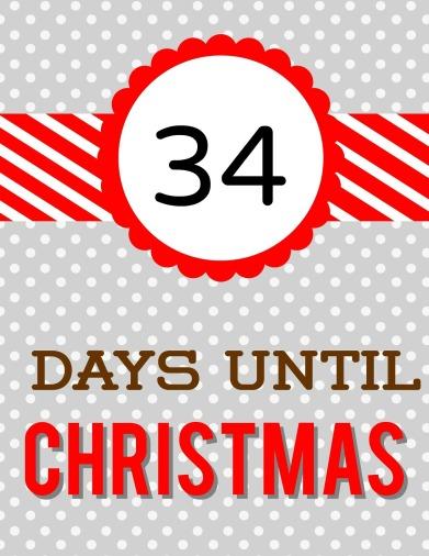 Christmas Countdown R & G Dots