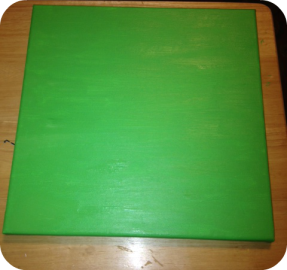 green canvas for tree collage