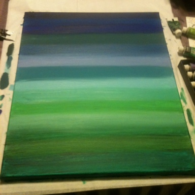 painted canvas